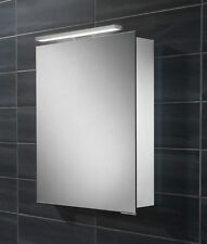 LED Illuminated Mirror Cabinet inc Shaver Socket +Sensor Switch Bathroom Ensuite
