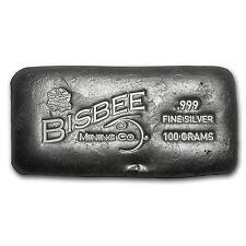 100 gram Silver Bar - Bisbee - SKU #85654