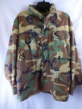Camouflage Military Lined Jacket Med Short Heavy Cold Dry Climates Hideaway Hood