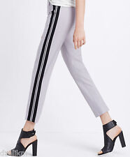 NWT $295 Vince Tropical Wool Side Striped Cropped Trouser Pants Size 0