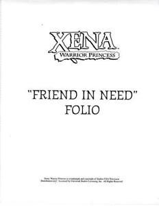 XENA WARRIOR PRINCESS OFFICIAL CREATION 8X10 CLUB FOLIO SET - A FRIEND IN NEED