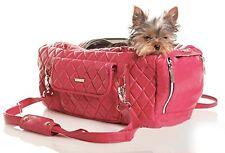 ZuGo Pet Faux Leather Pet Carrier Handbag Purse Cat Dog Bag Pet Handbag Pink
