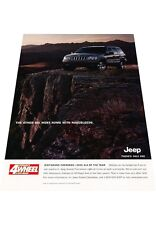 2001 Jeep Grand Cherokee - 4x4 of Year - Vintage Advertisement Car Print Ad J424