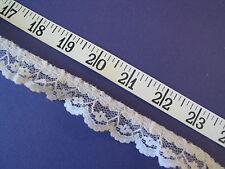 "A2294 Ruffled Lace Cream Beige Nylon 7/8"" W 6 Yds"