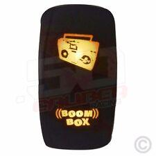 12V Rocker Switch LED Backlight Boom Box RV Toy Hauler Diesel Semi Truck Orange