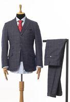 Mens SCUDERI LORO PIANA Double Breasted Three Piece Suit Blazer Vest Trousers