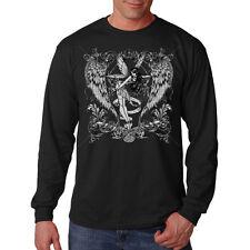 Fairie Angel Betterfly Wings Fairy Silver Design Long Sleeve T-Shirt Tee