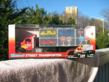 Kids Stuff Street Transporter With Carry Handle & 3 Die Cast Cars 1:64 Scale~New