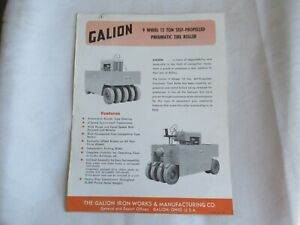 Galion 12 ton tire roller specification sheet brochure