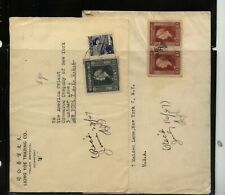 Netherlands  Indies   2  covers  to  US        MS0627