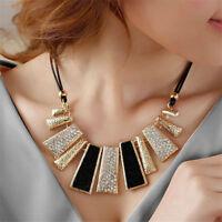 Fashion Bohemian Pendant Chain Chunky Collar Statement Bib Necklace Jewelry
