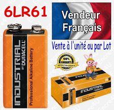 Piles DURACELL INDUSTRIAL 6LR61 6LF22 9V 9 VOLT MN1604 ( à l'unité ou par lot )