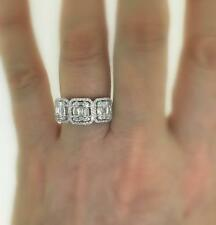 VS1 Diamond Anniversary Ring 1.31ct Baguette 18k White Gold Band