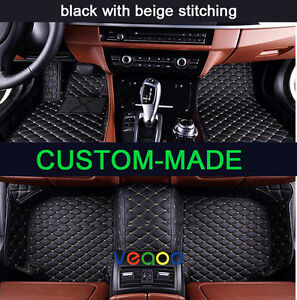 Car Floor Mats for Jaguar XF Sedan 2008-2017 All Weather Non-slip 3D Car Carpets