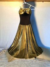 Gold & Black Adult Flowing Dance Dress