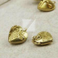 8pcs Gold Plated Metal Pendant Jewellery Making Craft Heart 15x13x4.5mm MB0519