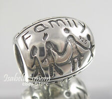FAMILY TOGETHER 925 SILVER Kids LOVE Father MOTHER Mom European Bead/Charm NEW