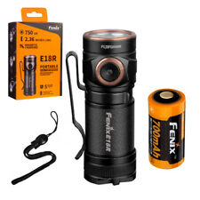 Fenix E18R 750 lm Ultra Compact Rechargeable Flashlight & Rechargeable Battery