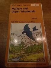 Vintage OS Ordnance Survey Map 10 MALHAM & UPPER WHARFEDALE Yorkshire Dales 70s