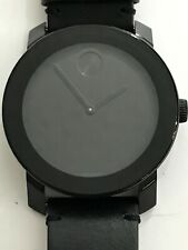 MOVADO Bold Black Museum Dial Black Leather Unisex Watch Item No. 3600306