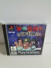 PS1 Worm's World Party - Playstation 1 Game