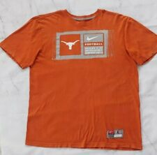 Nike Texas Longhorns Football Sz Large Graphic T-Shirt Burnt Orange 100% Cotton
