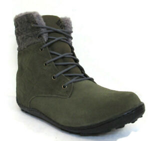 COLUMBIA POWDER SUMMIT SHORTY WOOL WOMEN'S OLIVE WATERPROOF BOOTS, #YL5385-383