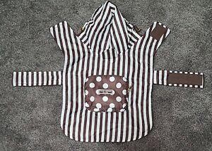 HENRI BENDEL New York Packable Dog Rain Coat City Slicker Folding  Striped NEW
