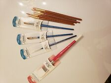 "4 New Winsor Newton watercolor  Brush 1"", 1/4 8, 000 +6 Elite 8 6 4 3/0 2/0  $40"