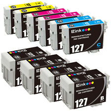 10PK 127 Remanufactured Ink Cartridges For Epson WorkForce 7520 840 545 630 633