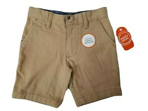 Wonder Nation Boys Khaki Shorts School Uniform Flat Front Adjustable Waist NEW