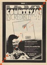 Country Joe & The Fish LP Tour advert Time Out clipping 1971