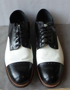 Stacy Adams Black and White Men's Dance/Dress Shoes. 13 D Zoot suit. Gangster.