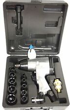 "17PC 1/2"" Dr. Air Impact Wrench Set with Sockets Inline filter"