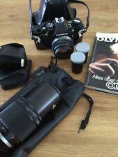 Olympus OM10 35mm SLR Film Camera with 50mm Lens Kit