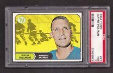 1968 Topps #47 Wayne Hillman, PSA 7 NM, Minnesota North Stars NHL Hockey 1968-69