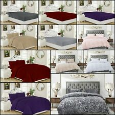 Teddy Fleece Duvet Quilt Cover Bedding Set OR Fitted Sheet Single Double King