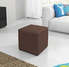 Hocker Sitzhocker Sitzwürfel Kunstleder 40x40x40cm mit Aufbewahrungsfach