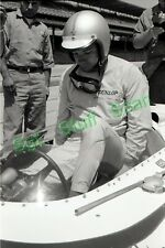 1963 Indy car racing Photo negative driver Pedro Rodriguez