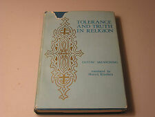 Tolerance and Truth in Religion by Gustav Mensching 1971 Tradition Revolution HB