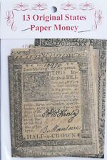 American War Of Independence Original States Replica Currency Money Banknotes