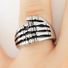 MENS SKELETON HAND  RING Size 10