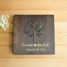 Personalized Photo Album Black Pages, Wedding Guest Book, Wedding Photo Album