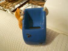 """Cat & Kitten Cell Phone Ceramic Holder-Vg+ 4"""" X 4"""" X 3 1/2"""""""