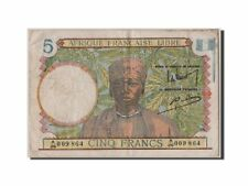 [#305563] French Equatorial Africa, 5 Francs, KM #6a, EF(40-45), A/26 009864