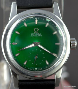 Vintage Omega Seamaster 2576 Calibre 342 Bumper Stainless Steel Green Dial