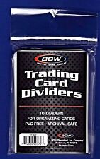 5-Pack (50) BCW Tabbed White Baseball  Card Dividers Fits in Storage Boxes