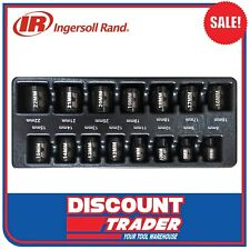 Ingersoll Rand 15Pc 3/8″ Drive 6 Point Metric Standard Impact Socket Set SK3M15A