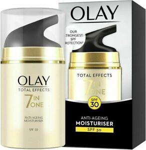 Olay Total Effects SPF 30 7-in-1 Anti-Ageing Moisturiser - 50ml