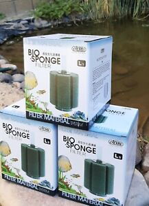 6 PACK Bio Sponge Filter Large Size Will Fit Up To 60 Gallon Tanks HIGH QUALITY!